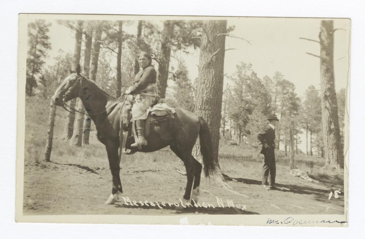 Mescalero Indian on a Horse, New Mexico