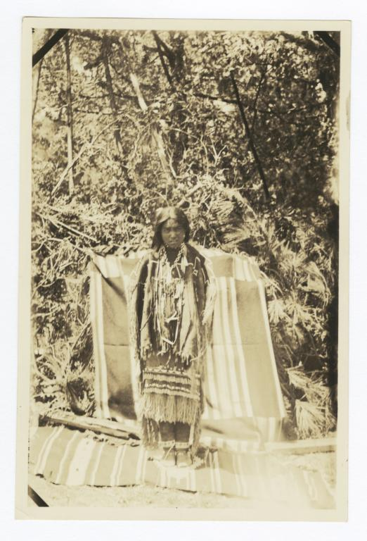 Apache Girl in Coming Out Dress
