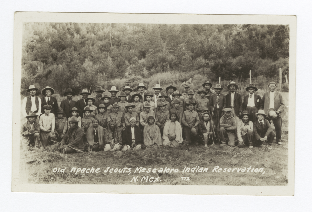 Old Apache Scouts, Mescalero Indian Reservation, Mescalero, New Mexico