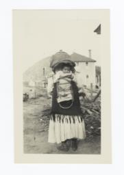 Woman with Infant in Cradleboard on Her Way to Church, Mescalero, New Mexico