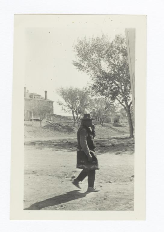 Apache Man Wearing a Blanket