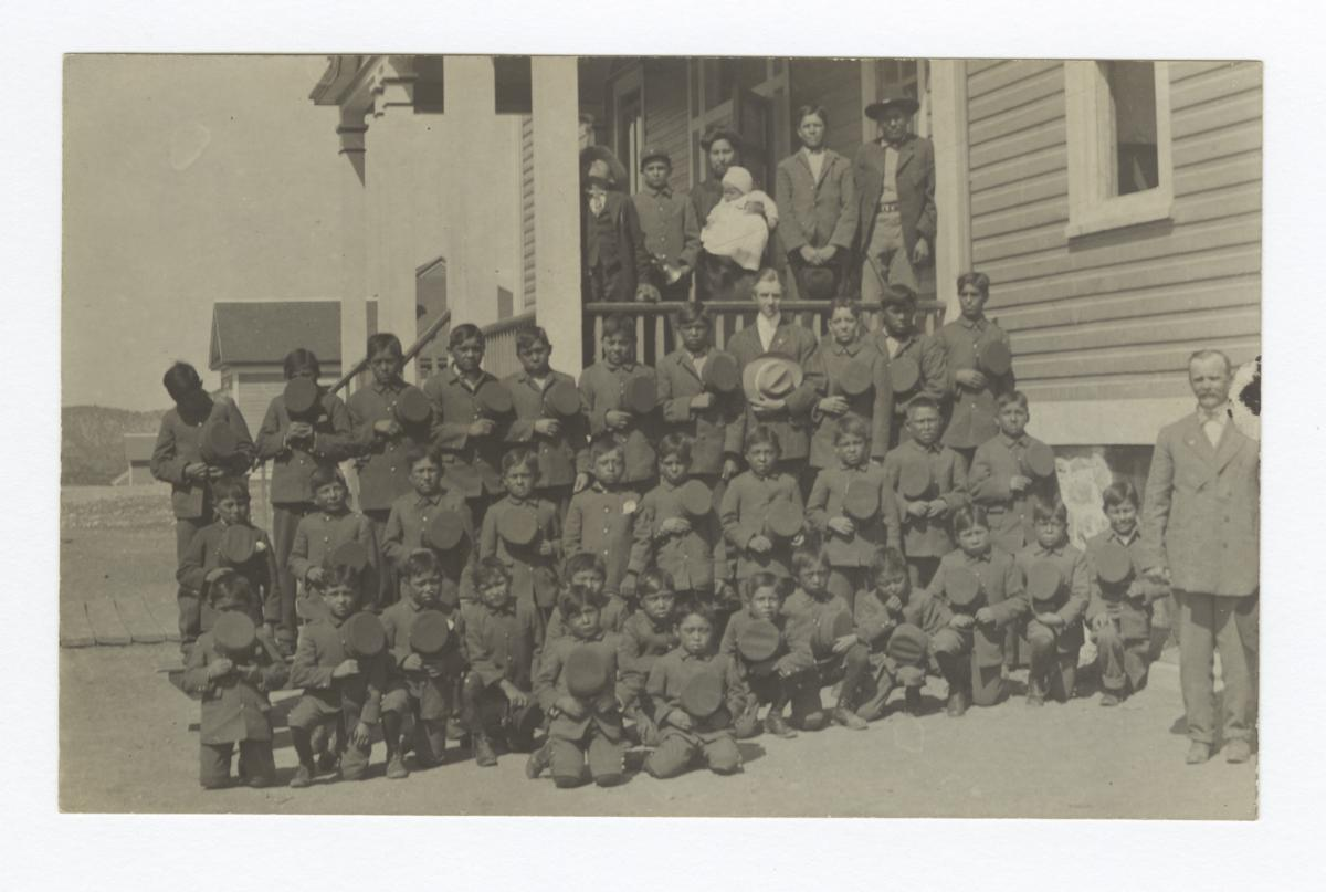 Boys at Mescalero Boarding School