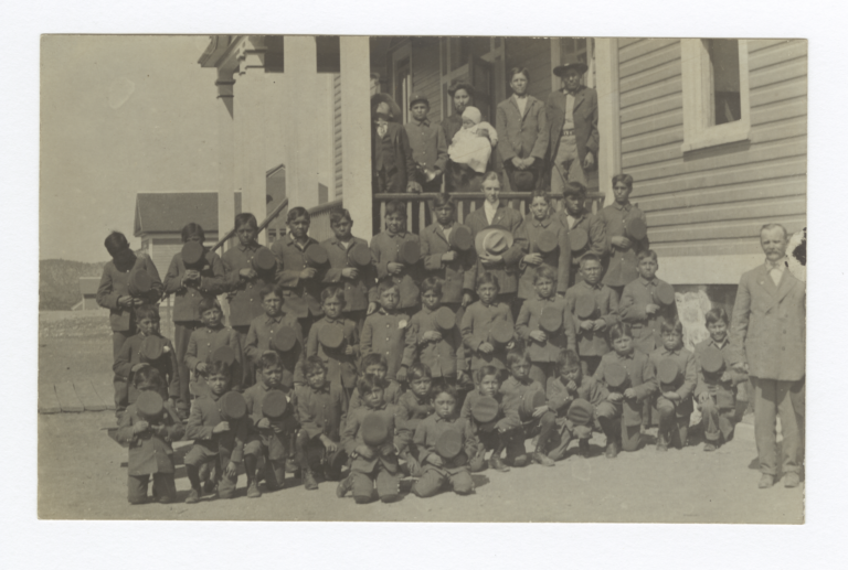 Boys at Mescalero Boarding School