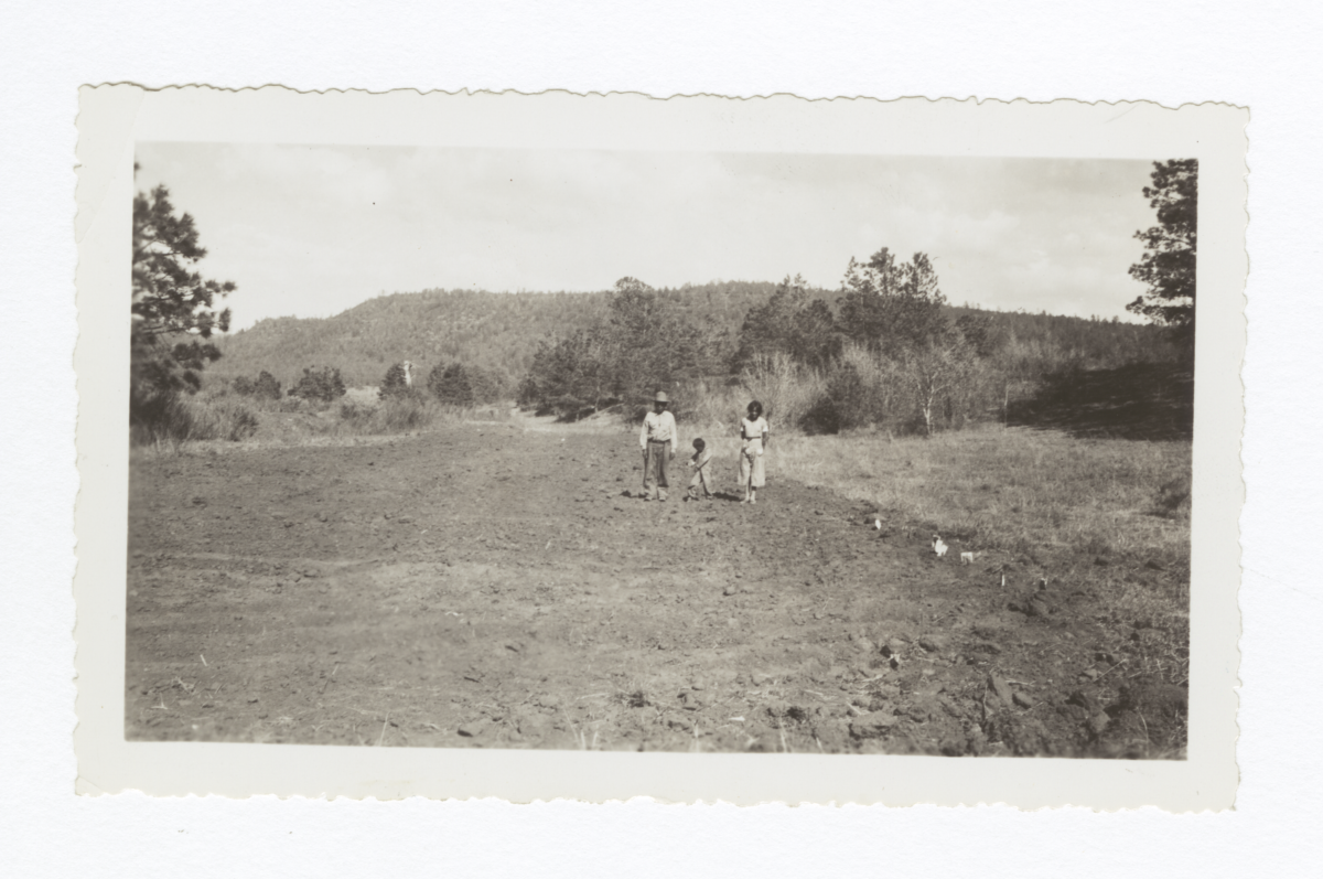 Antonio Apache and His Garden, Mescalero, New Mexico