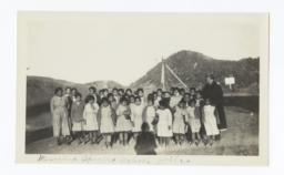 Mescalero Apache School Girls with Mrs. Overman
