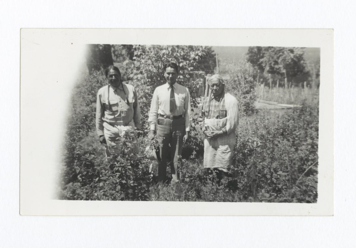 Father and Son John C. Rainer, and Uncle Manuel Mondragon, Taos Pueblo, New Mexico