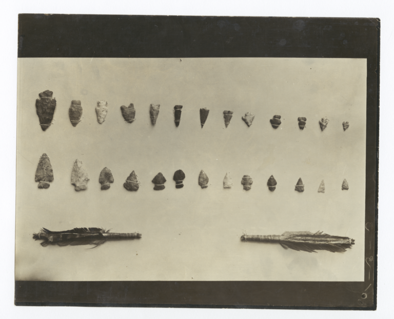Indian Arrow Heads Picked up in Mescalero, New Mexico