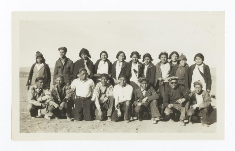 Unidentified Group of People Outside