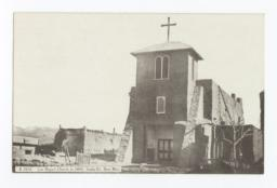 San Miguel Church in 1890, Santa Fe, New Mexico