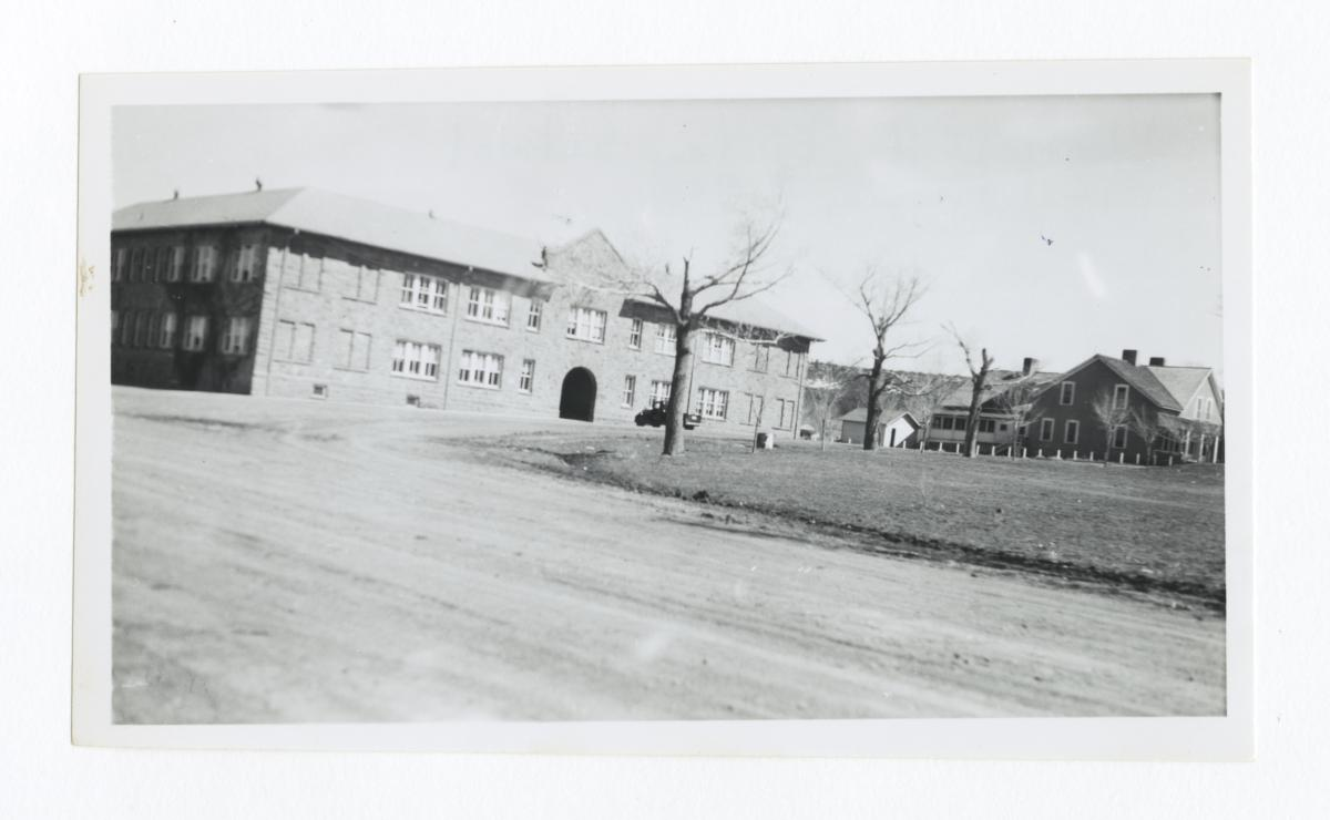 View of Campus, Charles H. Burke School, Fort Wingate, New Mexico