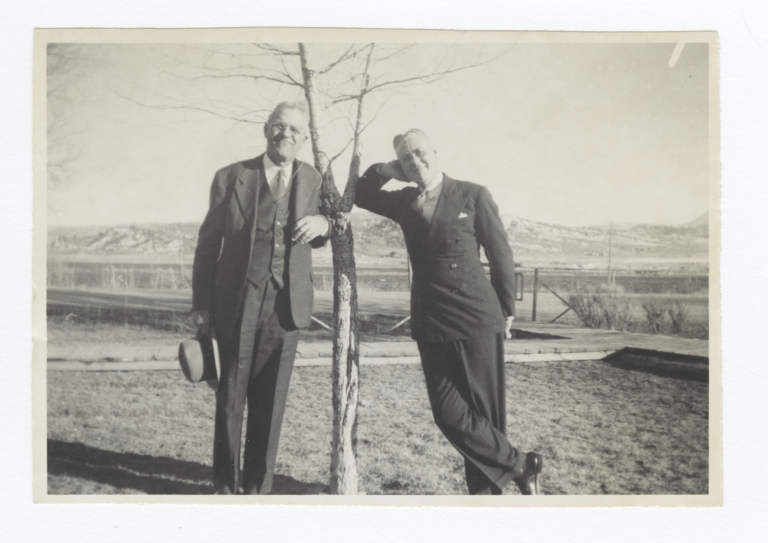 G.E.E. Lindquist and Reverend Herbert Gee, Missionary at Dulce, New Mexico