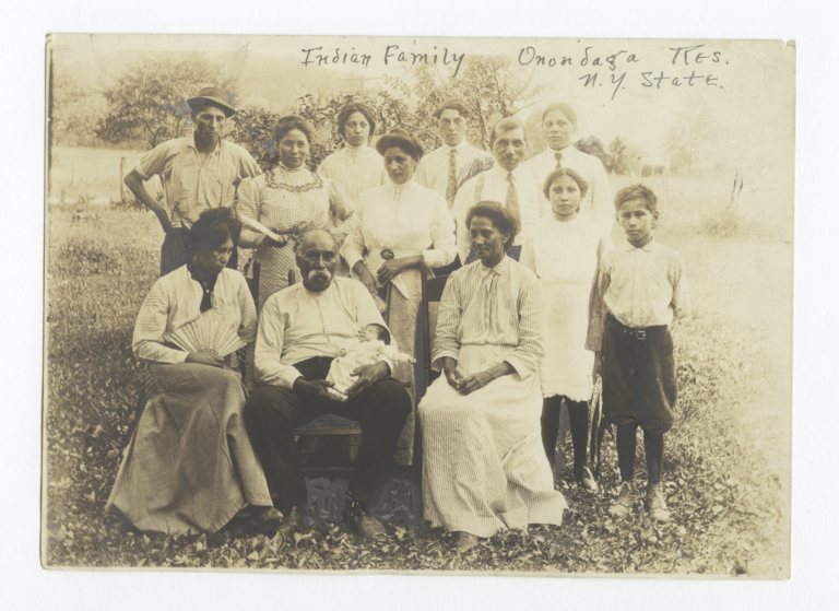Family on the Onondaga Reservation, New York