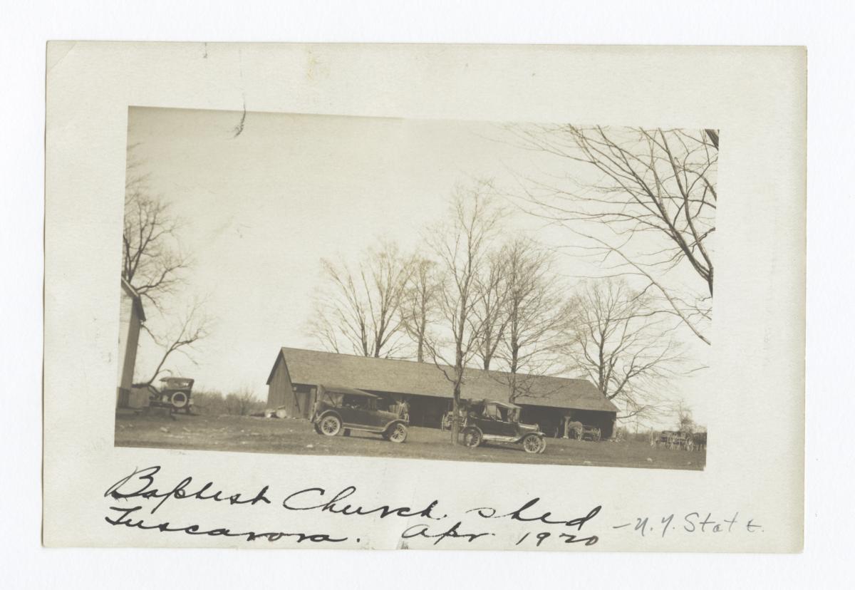 Tuscarora Baptist Church Shed, New York