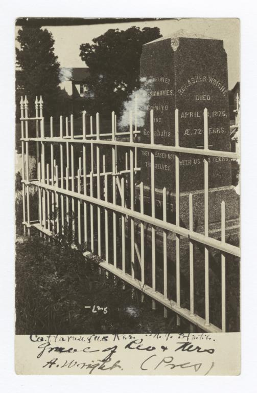 Cattaraugus Reservation, Graves of Reverand and Mrs. A. Wright, New York