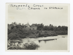 Tonawanda Creek with Baptist Church, New York