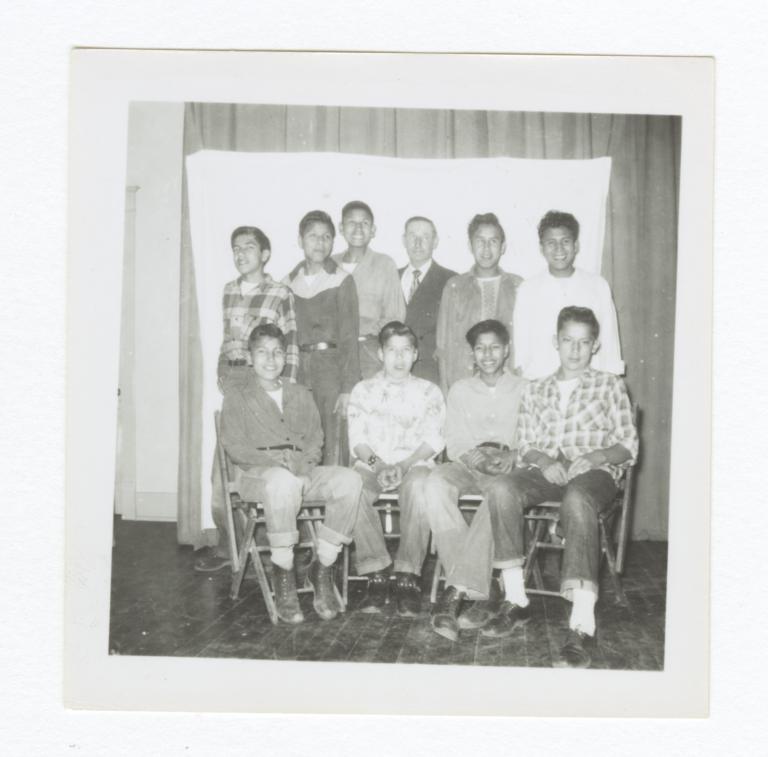 Class Photo, High School Age Boys, Wahpeton, North Dakota