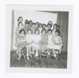 Class Photo, Elementary Age Girls, Wahpeton, North Dakota