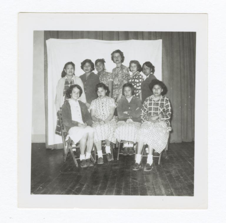 Class Photo, Junior High or High School Age Girls, Wahpeton, North Dakota