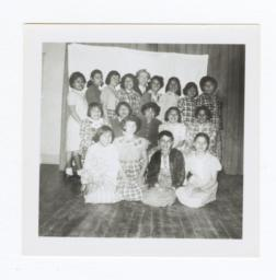 Class Photo, Junior High or High School Age Girls, Wahpeton, North Dakota