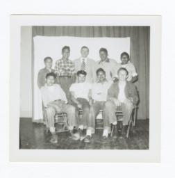 Class Photo, High School Age Boys, Wahpeton, North Dakota