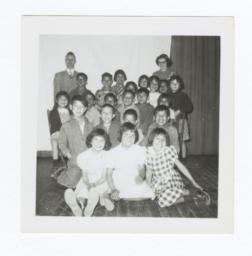 Class Photo, Elementary Age Boys and Girls, Wahpeton, North Dakota