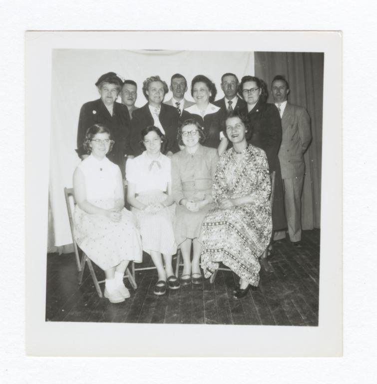 Group Portrait, Adult Men and Women, Wahpeton, North Dakota