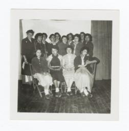 Class Photo, College Age and Adult Women, Wahpeton, North Dakota