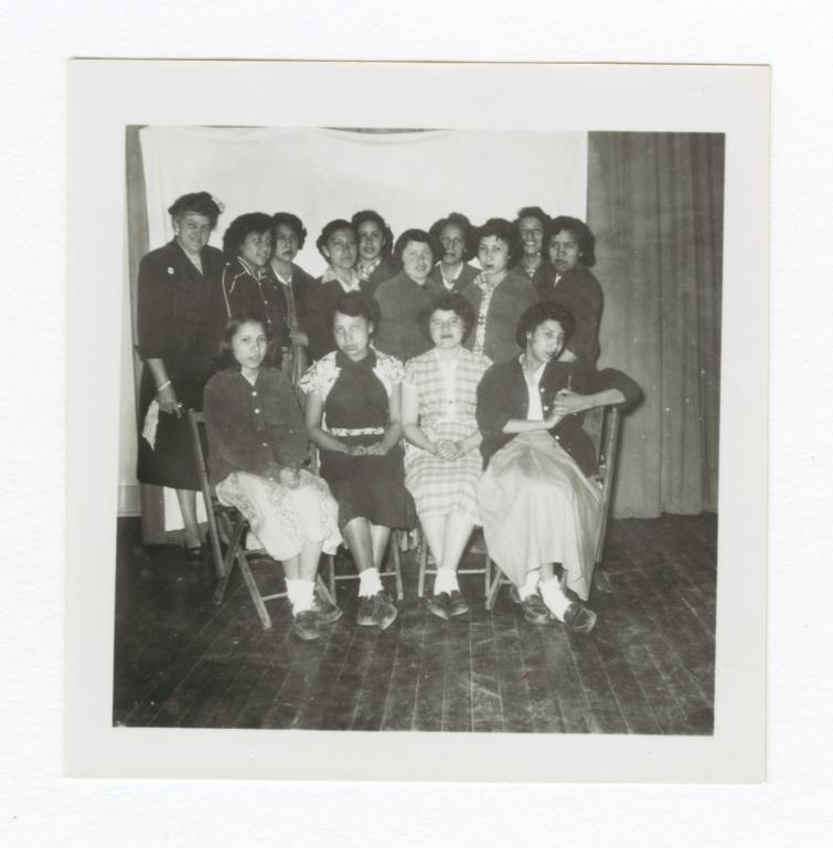 Class Photo, College Age and Adult Women, Wahpeton, North Dakota