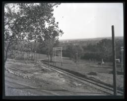 Countryside Landscape, with Train Tracks