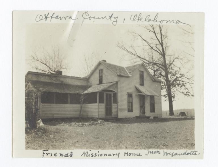 Ottawa County, Oklahoma, Friends Missionary Home near Wyandotte