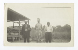 Reverends C. J. Ralston, Ebenezer Hotchkin, and S.L. Bacon at Cherokee Lake Indian Encampement