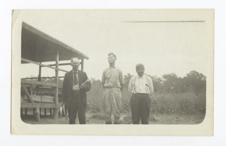 Reverends C. J. Ralston, Ebenezer Hotchkin, and S.L. Bacon at Cherokee Lake Indian Encampement