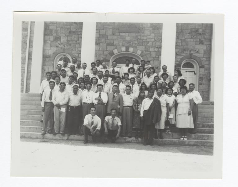 Group at Bacone College, Oklahoma