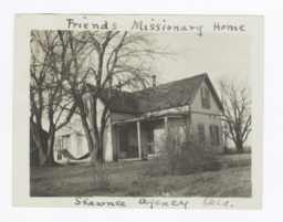 Shawnee Agency, Friend's Missionary, the Reverend Clark Brown's Home, Oklahoma
