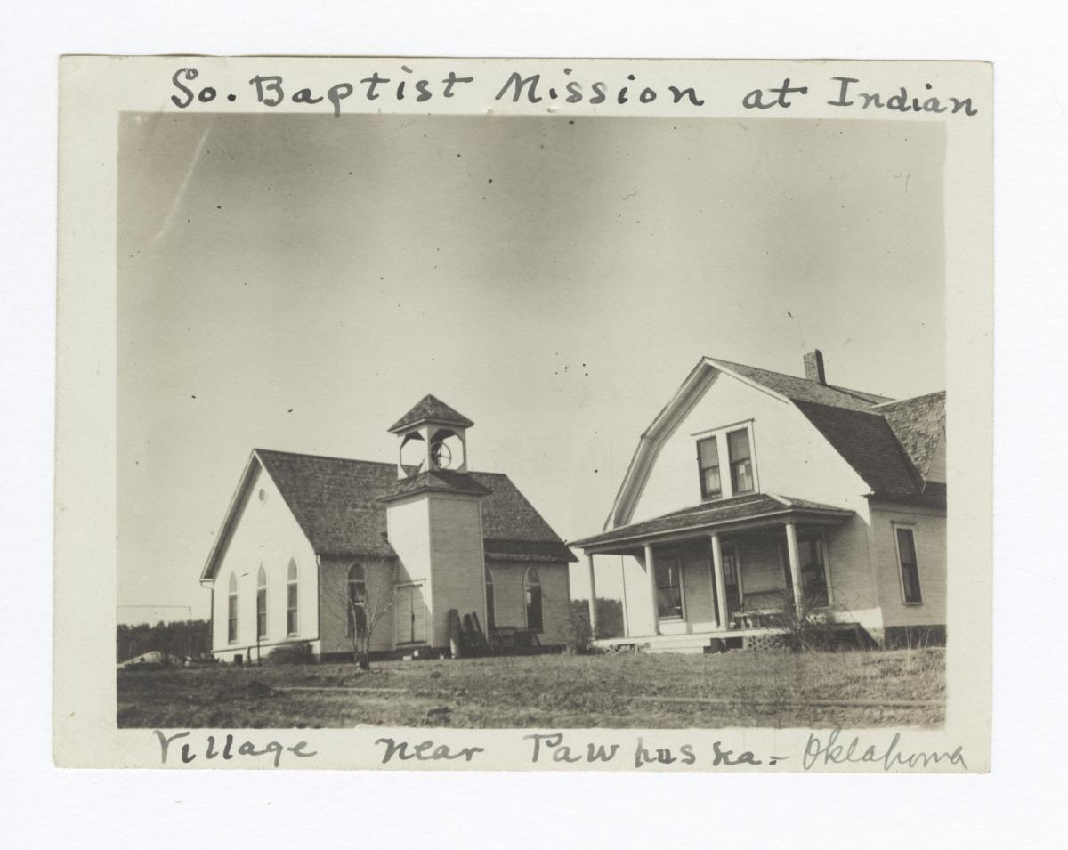 Southern Baptist Mission Church and Parsonage near Pawhuska, Oklahoma