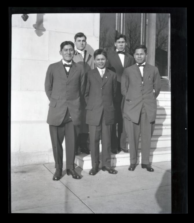 Young Men from the Chilocco YMCA Group