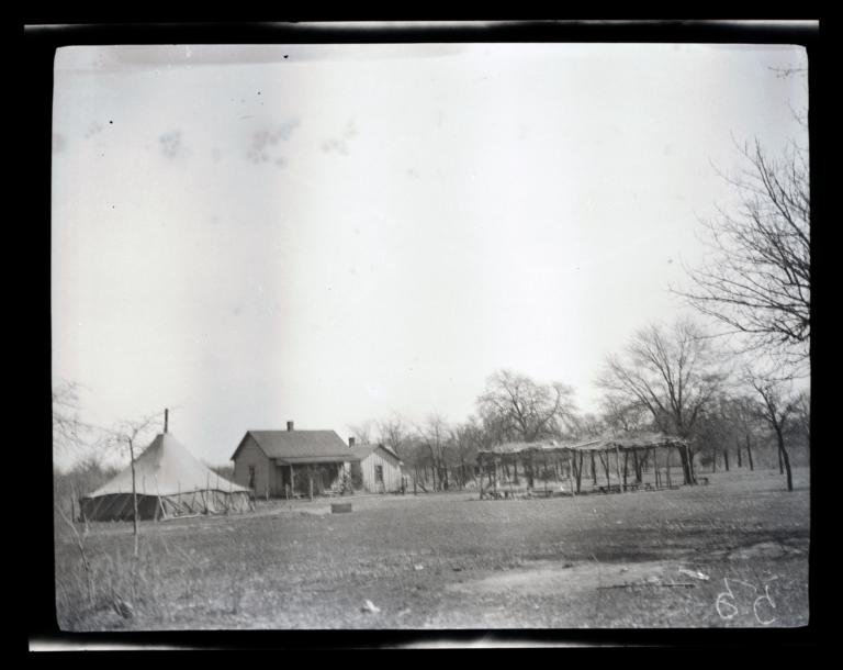 Mr. Ware's Home (Kiowa Indian Home and Camp), Hog Creek, Oklahoma