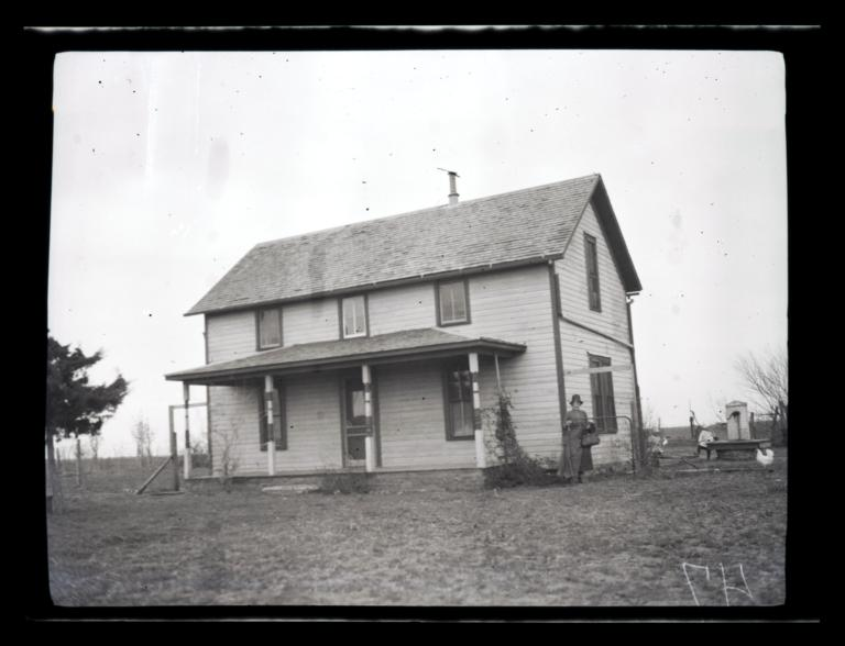 Elk Creek Mission near Hobart, Home of Missionary Mrs. Topping, Oklahoma