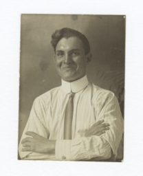 Portrait of a Man Wearing a Shirt and Tie