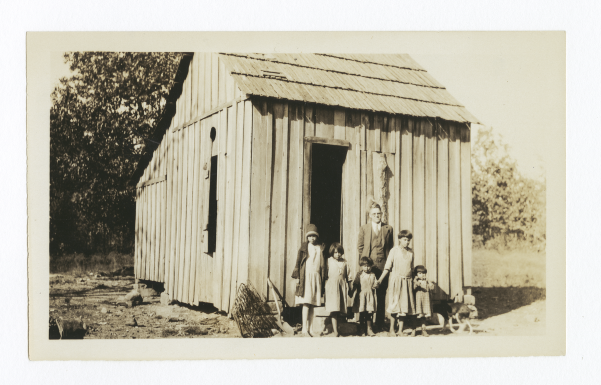 G.E.E. Lindquist with Indian School Children, Cherokee County, Oklahoma