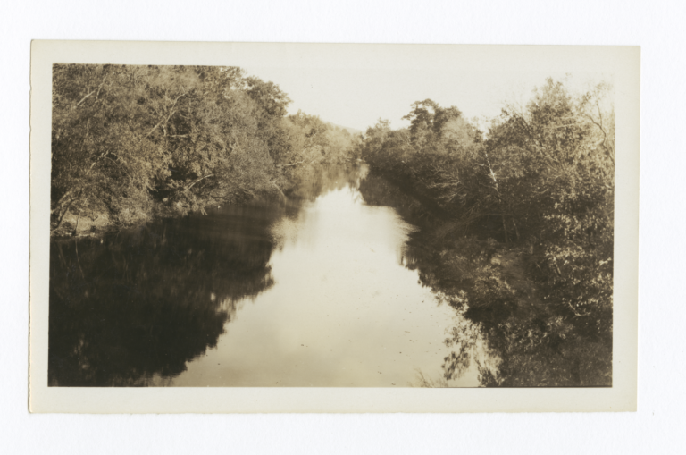 Illinois River Observed from a Bridge