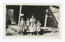Woman with Four Young Children in Destitute Circumstances, Cherokee County, Oklahoma