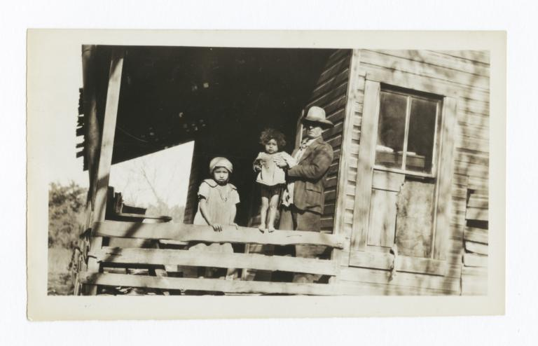 George Gourd with Two Young Children of Dave Holmes