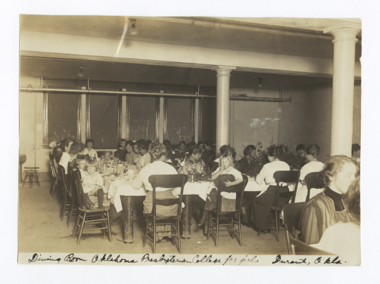 Dining Room at Oklahoma Presbyterian College for Girls, Durant, Oklahoma