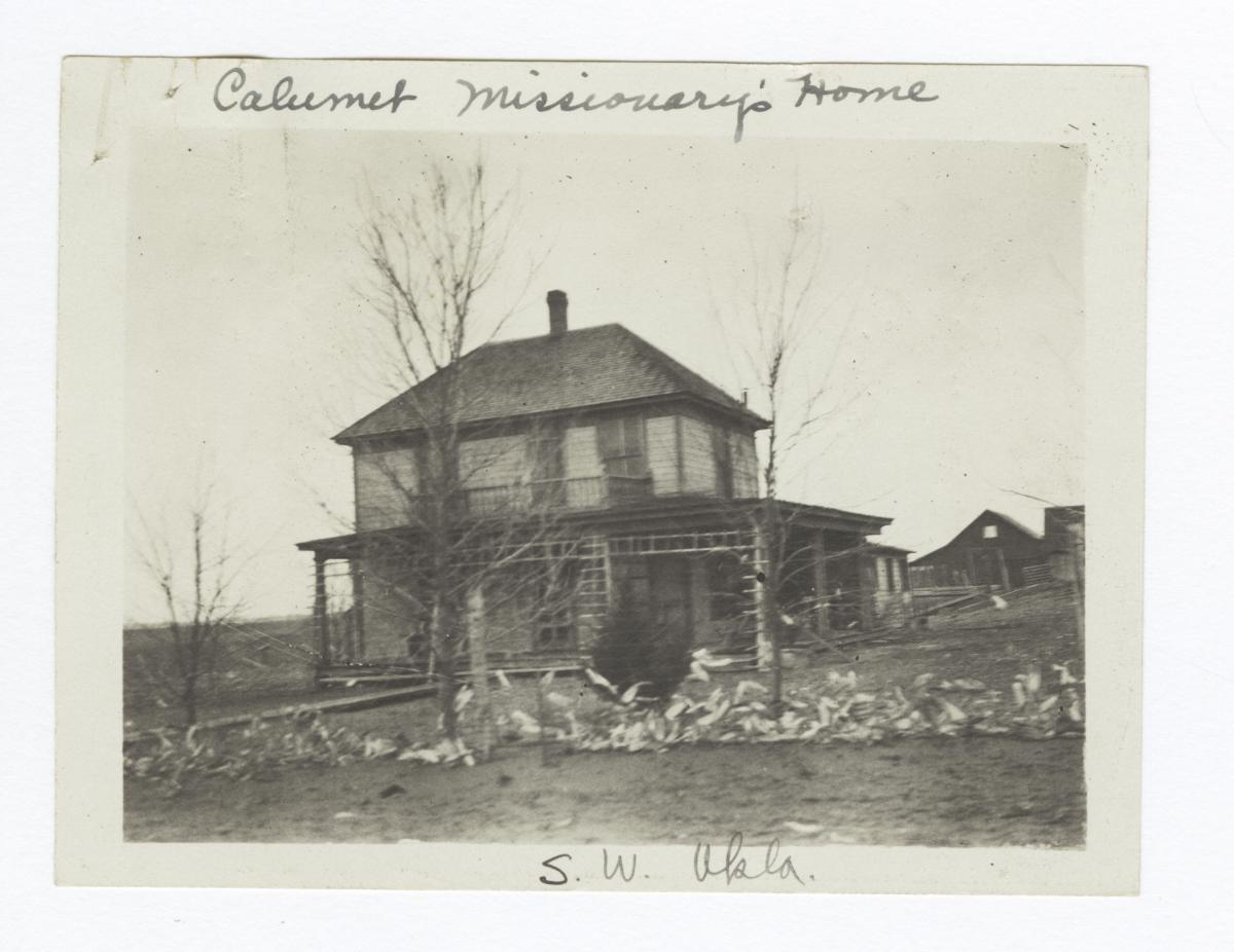 Calumet Missionary's Home, South West Oklahoma