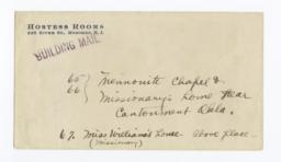 Envelope for Negative (1173) of Missionary's Home, Cantonment, Oklahoma