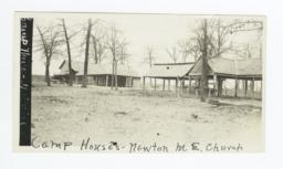 Camp Houses, Newtown Methodist Episcopal Church, near Okmulgee, Oklahoma