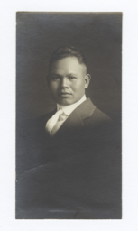 Portrait of a Young Man in Formal Attire, Seminole, Oklahoma
