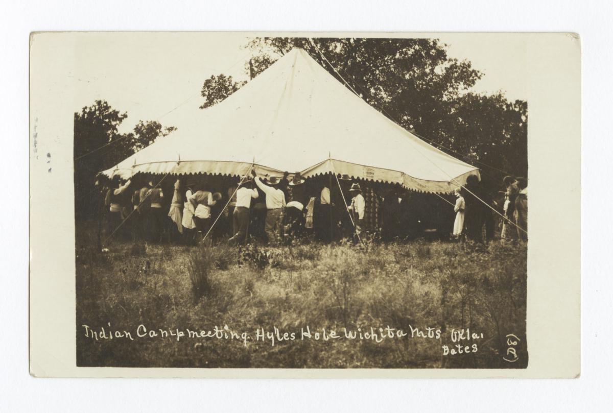 Indian Camp Meeting, Hyles Hole Wichita Mountains, Oklahoma