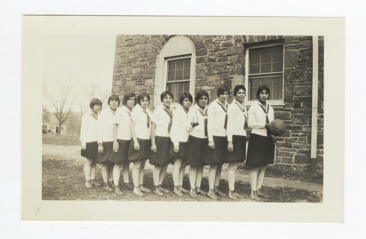 Girls' Basketball Team, Dwight Mission School